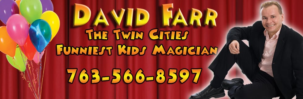 Anoka magician for kids birthday parties